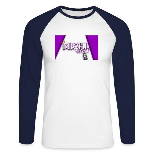 Camisa MichiCast - Men's Long Sleeve Baseball T-Shirt