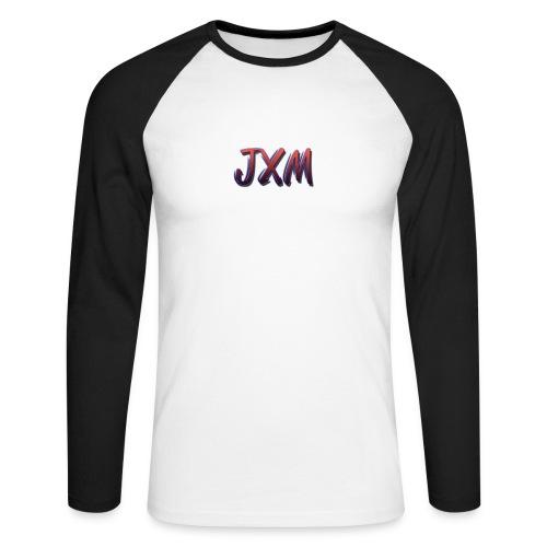 JXM Logo - Men's Long Sleeve Baseball T-Shirt