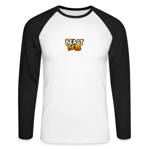 BeastBets - Langærmet herre-baseballshirt