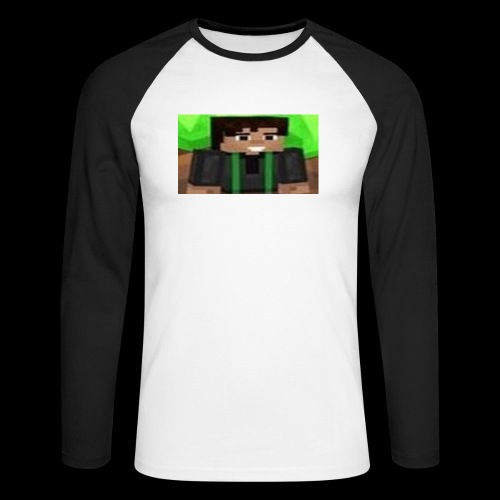 EnZ PlayZ Profile Pic - Men's Long Sleeve Baseball T-Shirt