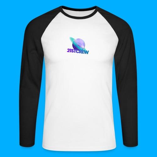 PurpleSaturn T-Shirt Design - Men's Long Sleeve Baseball T-Shirt