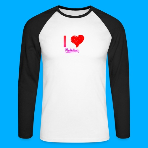 I Heart Potato T-Shirts - Men's Long Sleeve Baseball T-Shirt