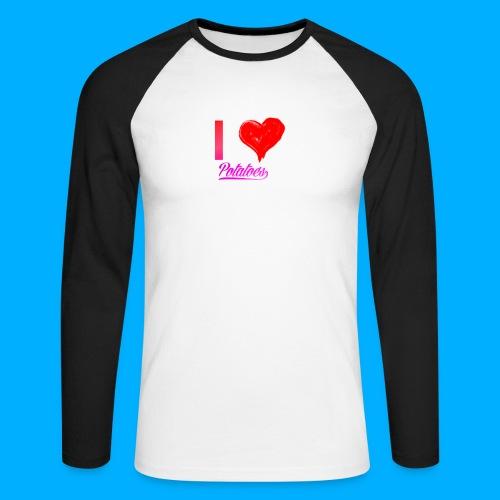 I Heart Potato T-Shirts - Men's Long Sleeve Baseball T-Shirt
