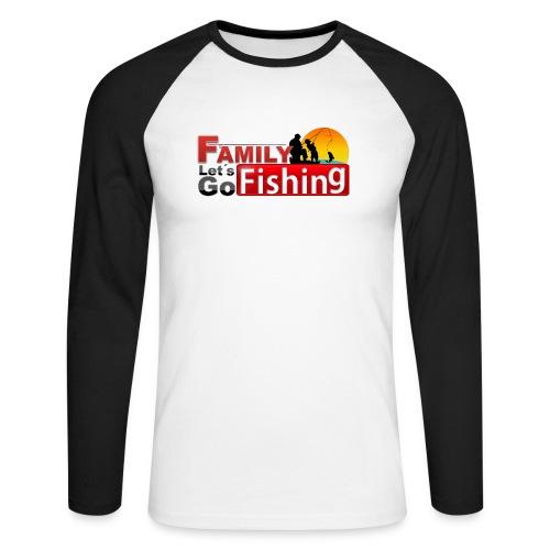 FAMILY LET'S GO FISHING FUND - Men's Long Sleeve Baseball T-Shirt