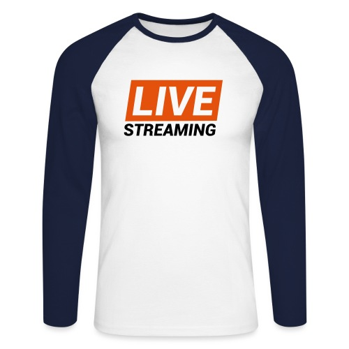 LIVE streaming - Maglia da baseball a manica lunga da uomo