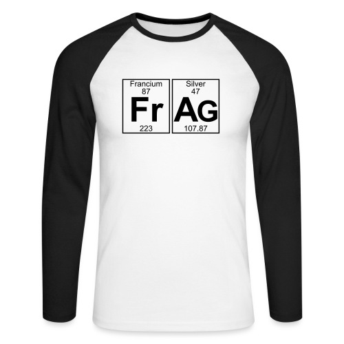 Fr-Ag (frag) - Full - Men's Long Sleeve Baseball T-Shirt