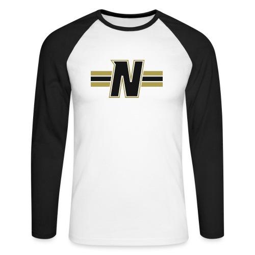 Nordic Steel Black N with stripes - Men's Long Sleeve Baseball T-Shirt
