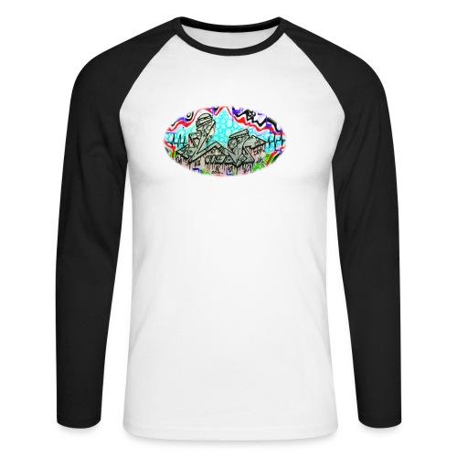 Across the Tracks Blur - Men's Long Sleeve Baseball T-Shirt