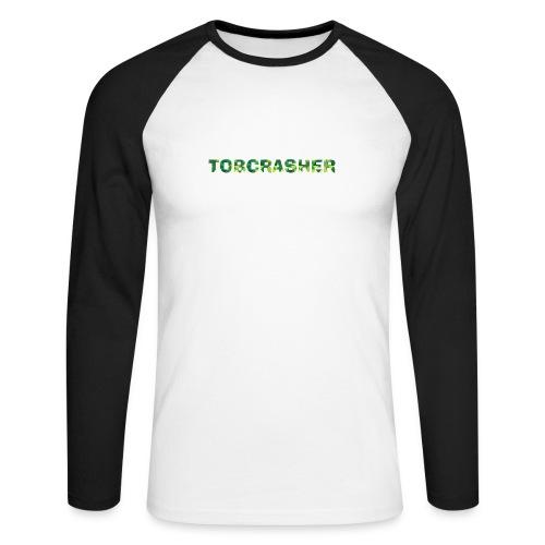 Tshirt Green triangles big - Männer Baseballshirt langarm