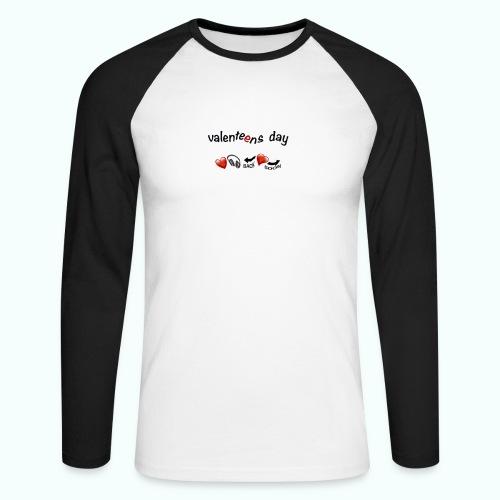 valenteens day - Männer Baseballshirt langarm