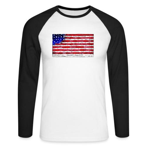 Good Night Human Rights - Men's Long Sleeve Baseball T-Shirt