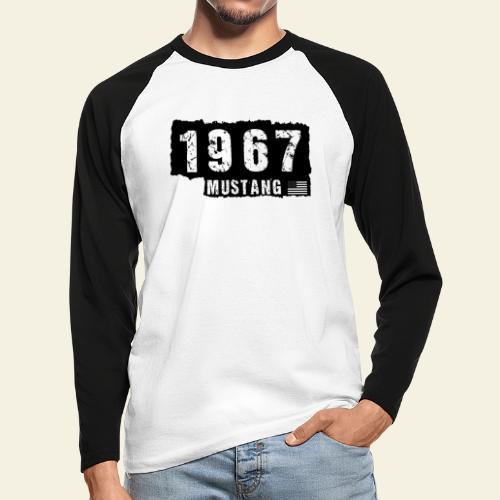 1967 - Langærmet herre-baseballshirt