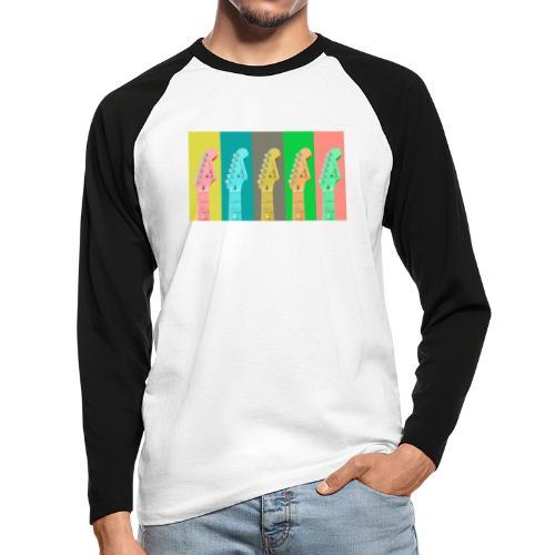 Colorful Guitar Gathering by #OneCreativeArts - Männer Baseballshirt langarm
