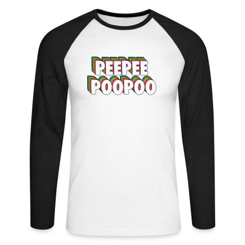 PEEPEEPOOPOO Meme - Men's Long Sleeve Baseball T-Shirt
