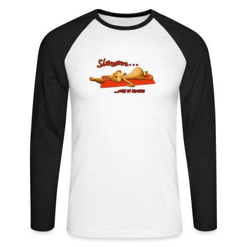 Time for Shavasana - Männer Baseballshirt langarm