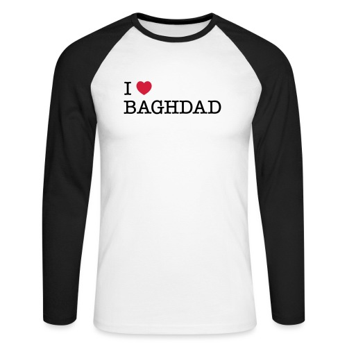 I LOVE BAGHDAD - Men's Long Sleeve Baseball T-Shirt