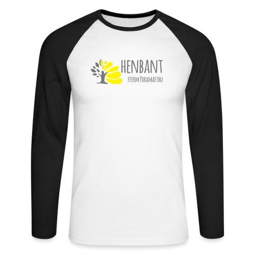 henbant logo - Men's Long Sleeve Baseball T-Shirt