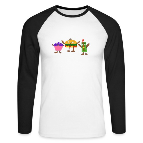 Fast food figures - Men's Long Sleeve Baseball T-Shirt