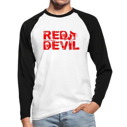 BELGIAN-RED-DEVIL - T-shirt baseball manches longues Homme