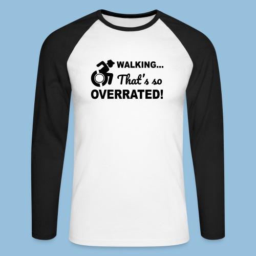 Walkingoverrated2 - Mannen baseballshirt lange mouw