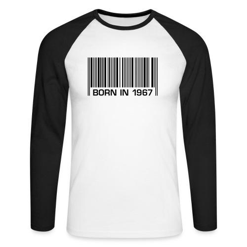 born in 1967 50th birthday 50. Geburtstag barcode - Men's Long Sleeve Baseball T-Shirt