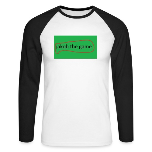 jakob the game - Langærmet herre-baseballshirt