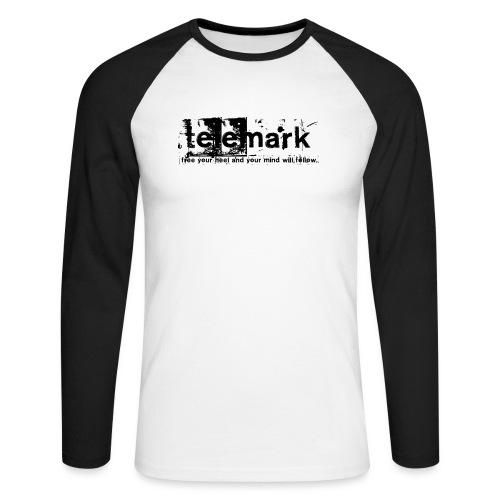 Print Free your heel and your mind will follow - Männer Baseballshirt langarm