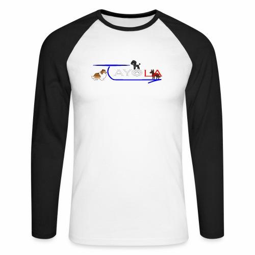 Tayola White - T-shirt baseball manches longues Homme