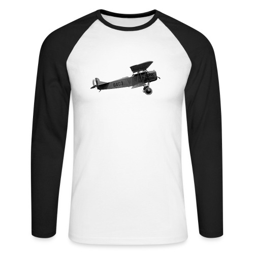 Paperplane - Men's Long Sleeve Baseball T-Shirt
