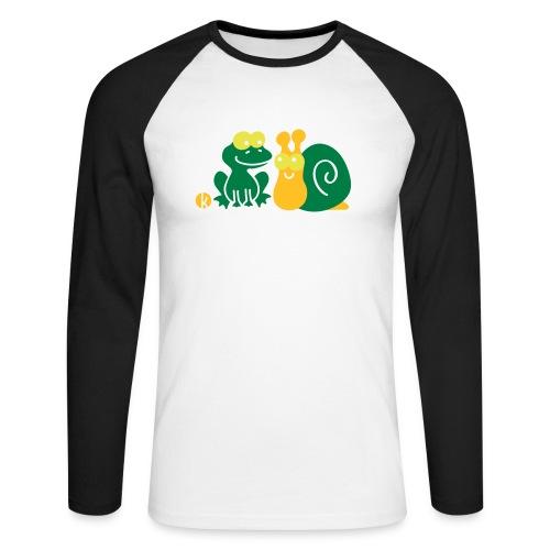 Frosch und Schnecke (c2) Freundschaft - Männer Baseballshirt langarm