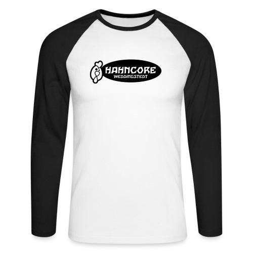 hahncore_sw_nur - Männer Baseballshirt langarm