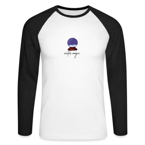 winter magic, snow, winter coming, magic bullet - Men's Long Sleeve Baseball T-Shirt