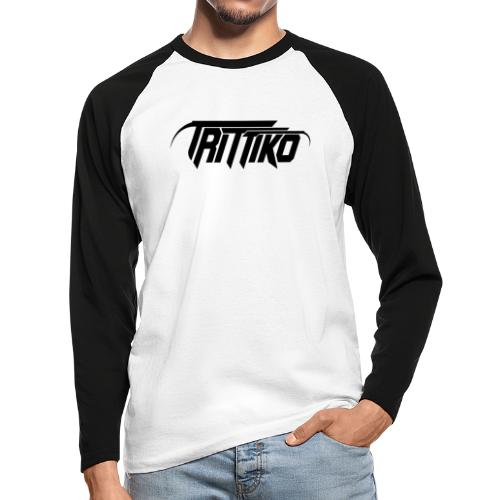 Trittiko Logo Schwarz - Männer Baseballshirt langarm