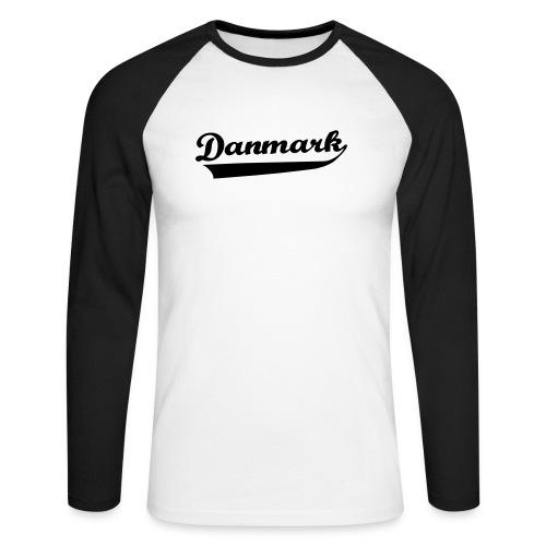 Danmark Swish - Langærmet herre-baseballshirt