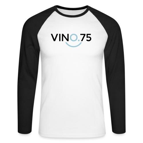 VINO75 - Maglia da baseball a manica lunga da uomo