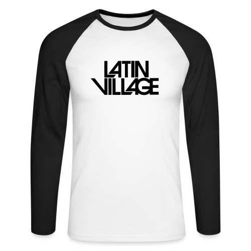 Logo Latin Village 30 - Mannen baseballshirt lange mouw