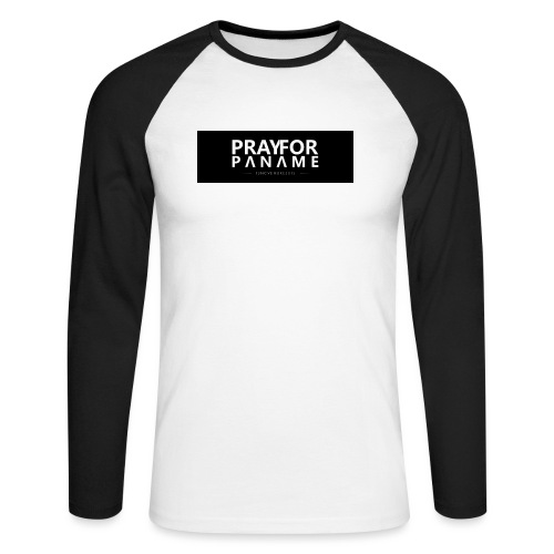 TEE-SHIRT HOMME - PRAY FOR PANAME - T-shirt baseball manches longues Homme