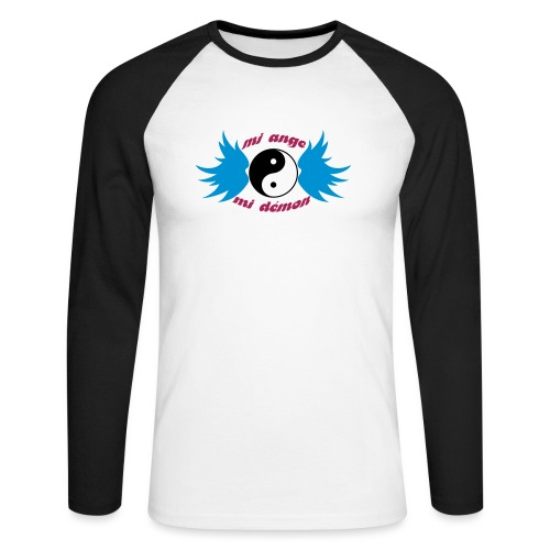 Débardeur Bio Femme Mi ange Mi démon - Men's Long Sleeve Baseball T-Shirt