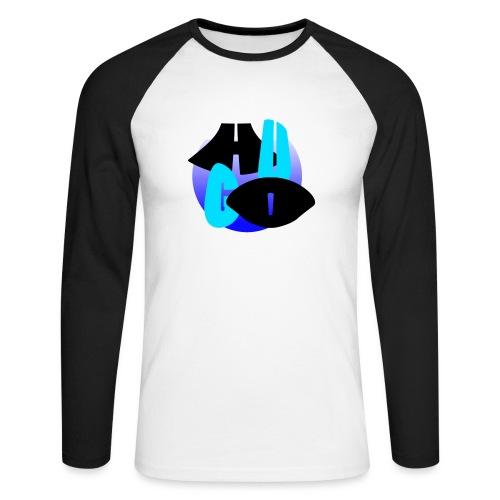 Hugo's logo transparant - Mannen baseballshirt lange mouw