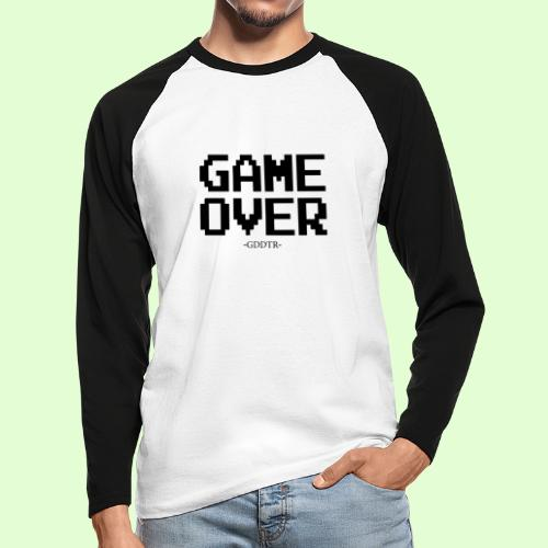 Game Over - Männer Baseballshirt langarm