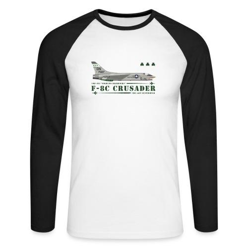 F-8C Crusader VMF-333 - Men's Long Sleeve Baseball T-Shirt