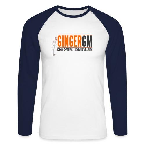 Ginger GM Logo - Men's Long Sleeve Baseball T-Shirt