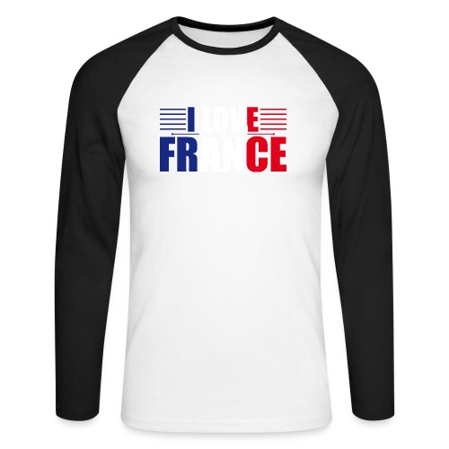 love france - T-shirt baseball manches longues Homme