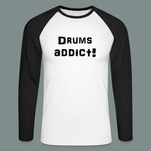 Drums addict - T-shirt baseball manches longues Homme