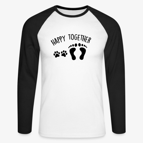 happy together dog - Männer Baseballshirt langarm
