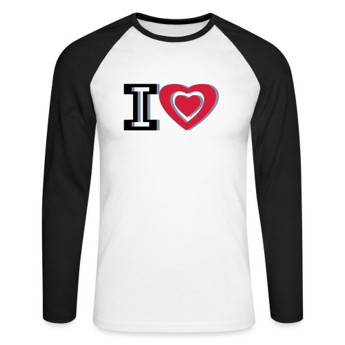I LOVE I HEART - Men's Long Sleeve Baseball T-Shirt