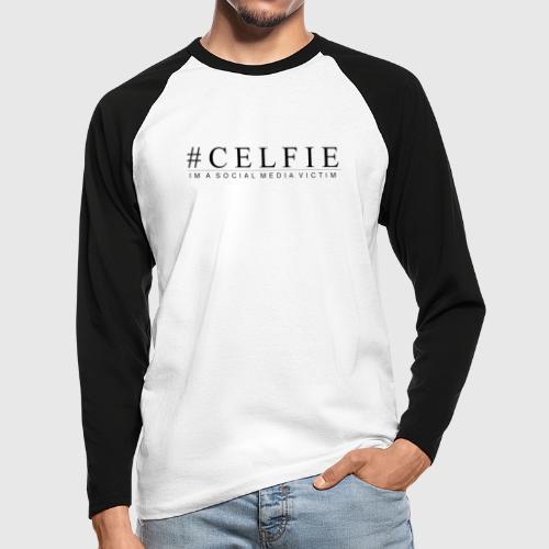 CELFIE - Langærmet herre-baseballshirt