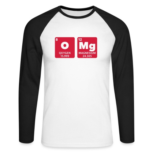 periodic table omg oxygen magnesium Oh mein Gott - Men's Long Sleeve Baseball T-Shirt
