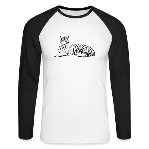 Weisser Tiger Shirt Geschenk - Männer Baseballshirt langarm