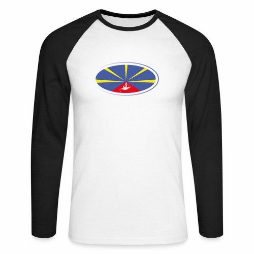 Paddle Reunion Flag - T-shirt baseball manches longues Homme
